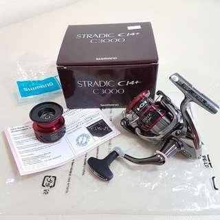 Shimano Stradic ci4 C3000 with 2500 Spool