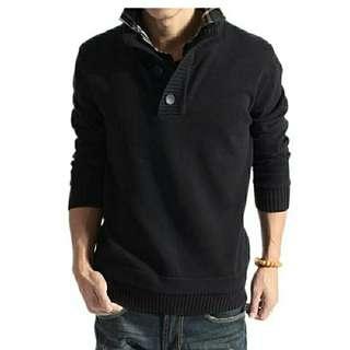 Bz mazda rajut sweater hitam l atasan fashion baju cowok sweater pria baju rajut cowok sweeer