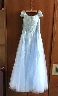 Sky Blue Evening Gown