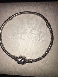 Silver Pandora bracelet