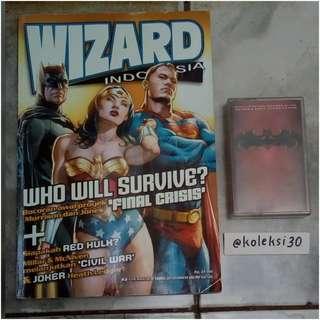 Majalah wizard & kaset batman