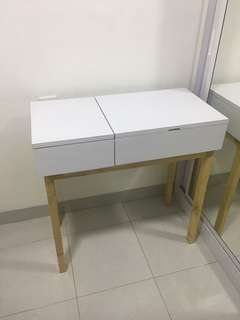 meja rias dressing table ikea informa kaca mirror makeup
