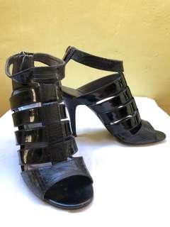 Charles & Keith Black Strappy Heels