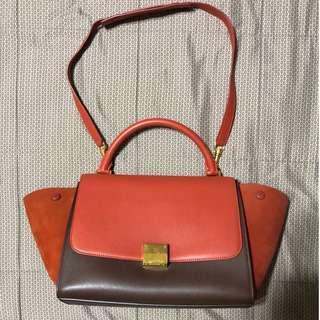 Pre loved authentic Celine Trapeze Handbag