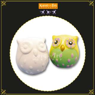 Ceramic Cute Owl Coin Bank