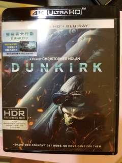 Dunkirk 鄧寇克大行動 4k hd + blu ray 99% new, Christopher nolan