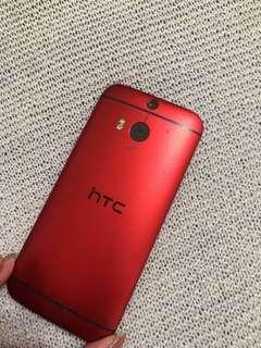 🚚 HTC m8 銀色/紅色 16g