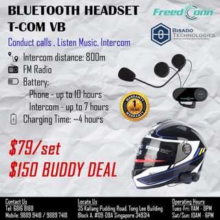 T-COM VB Bluetooth Headset for Helmet