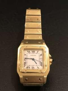 Gold Santos Cartier Men's Watch