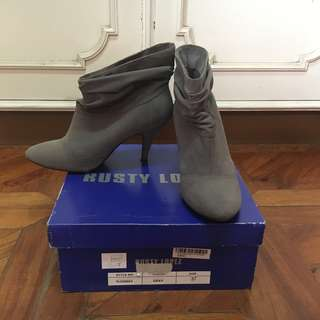 RUSTY LOPEZ Gray Boots with heels