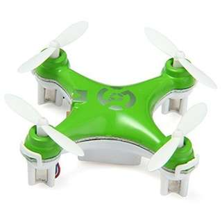 378. oneCase Cheerson CX-10 29mm 4 Channel 2.4GHz Radio Control RC Mini Quadcopter Helicopter Drone 6-Axis Gyro UFO with LED Flash Light - Green