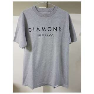 diamond supply 短t 鑽石 DIAMOND SUPPLY CO 短袖 短T 灰 頑童 mj116