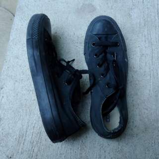 REPRICED CONVERSE Authentic black sneakers shoes