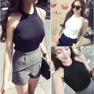 Halter Neck Knitted Top