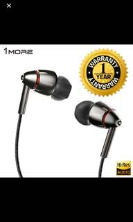 (MAY PROMO) 1MORE Quad Driver In-Ear Earphone (18 MONTHS WARRANTY)