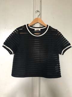 Pre-loved See through Crop top! Forever 21