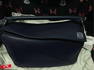 Loewe Puzzle Bag Marine(Medium)