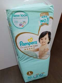 Pampers Premium Size L tapes diapers NEW