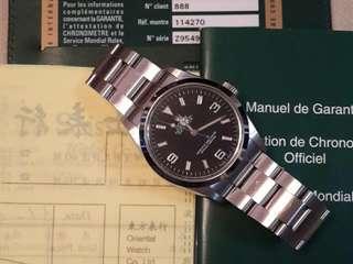 Rolex Explorer 1 114270 888 Full Set (Z9 內影字)