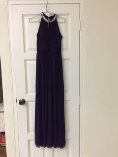 Evening Gown (royal purple)