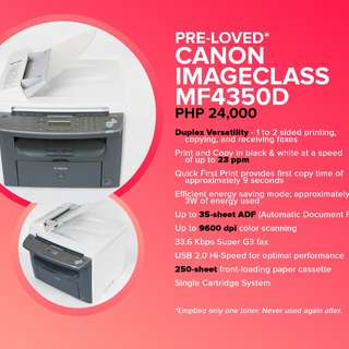 PRE-LOVED CANON imageCLASS MF4350d(negotiable)