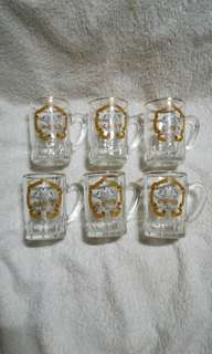 Vintage The Marriage of H.R.H Prince & Princess of Wales Shot Glass with Handle - Set of 6
