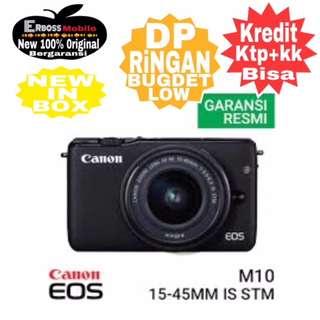 Canon EOS M10 Kit EF-M15-45mm-Cash/kredit DP 300rb ditoko ktp+kk wa 081905288895