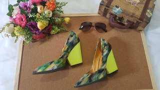 Neon Wedge Shoes