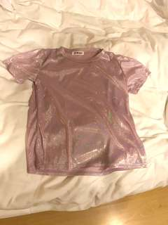 Brand new glitter pink free size top