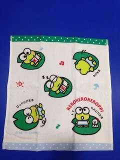 Sanrio Kerokerokeroppi Face towel (Limited Edition