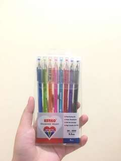 Diamond heart kenko color bolpoint