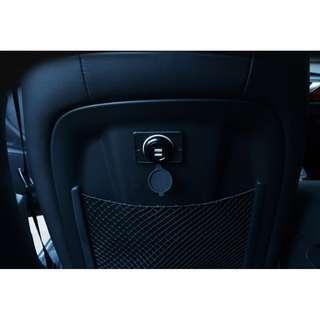 🚚 機車新款 LED 汽車 巴士 遊覽車 貨車 遊艇 雙孔USB充電器 機車 免開孔 內建保險絲 輸入DC12v~24v 輸出5V 3.1A