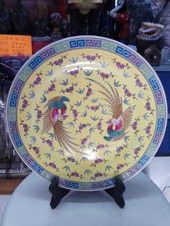 古舊雙鳳凰瓷碟