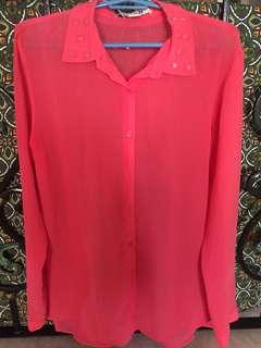 [preloved] Forever21 long sleeved blouse