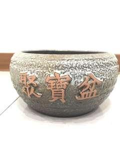 🚚 陶瓷聚寶盆 高13cm 寬16cm