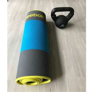 Brand New Yoga Mat (never used) and 8kg kettleBell