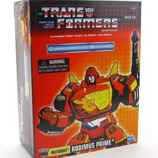 Transformers Generation One Rodimus Prime Commemorative Series VII 7