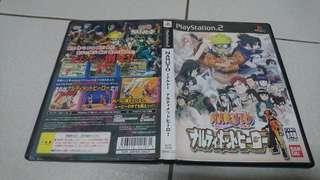 PS2火影忍者:木葉的忍者英雄們 NARUTO 正版遊戲