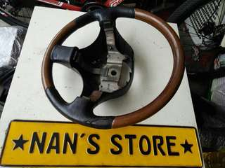 Daihatsu walnut steering wheel