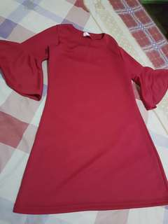 Dress maroon glamour