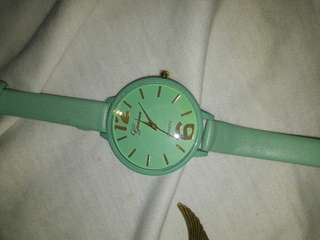 Geneva Watch pastel green