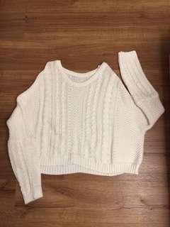 Oversized Cream Knit Sweater