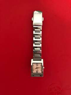 Casio stainless steel water resistance pink watch