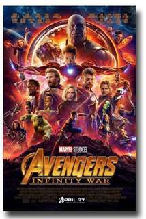Avengers Infinity War Poster 11 X 17 inch (訂)