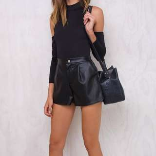 PRINCESS POLLY Pleather Shorts