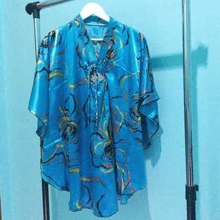 Tunik Kimono Biru