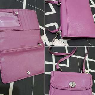 Coach Wallet/Bag with Shoulder Carrying Strap