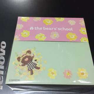 The bear school Jackie memo pad 小熊學校