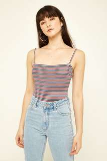 Striped Bodysuit - Multicoloured Red/Blue