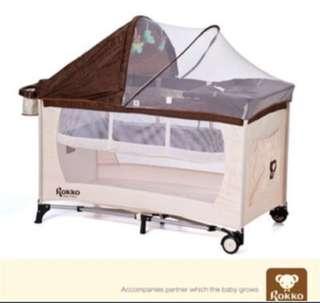 ROKOO 遊戲床 嬰兒床